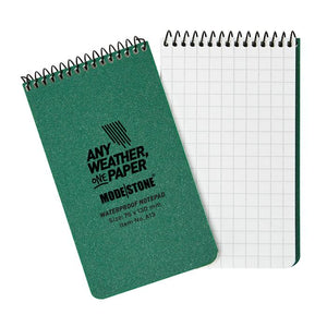 "Modestone 3"" x 5"" All-Weather Tactical Notebook - Green"