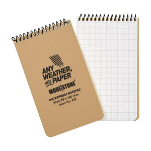 "Modestone 3"" x 5"" All-Weather Tactical Notebook - Tan"