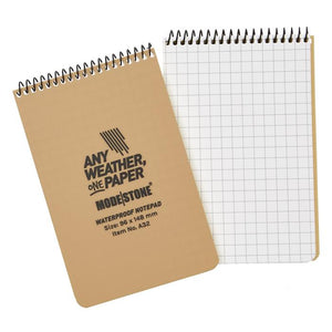 "Modestone 4"" x 6"" All-Weather Tactical Notebook - Tan"