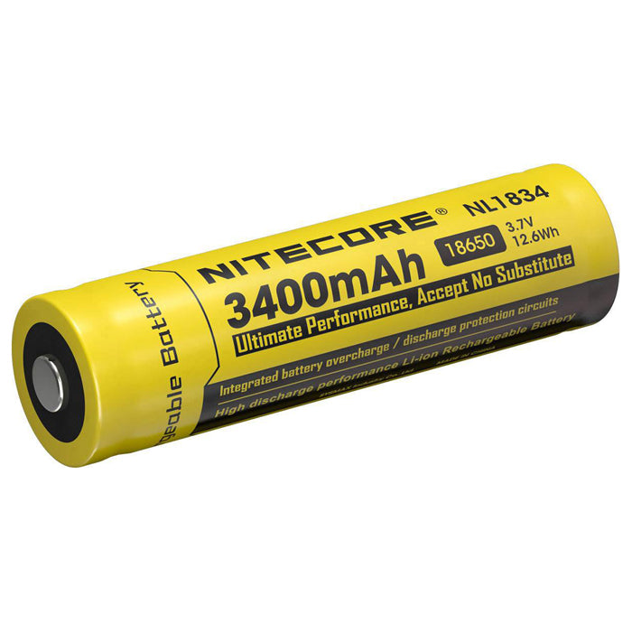 Nitecore 3.7V 3400mAh 18650 Lithium-ion Rechargeable Battery