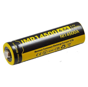 Nitecore IMR14500 3.7V 650mAh Rechargeable Battery