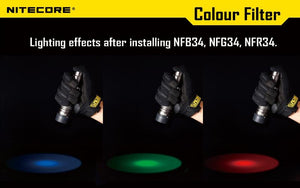 Nitecore Red Lens Filter Diffuser