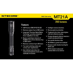 Nitecore MT21A Torch, Features