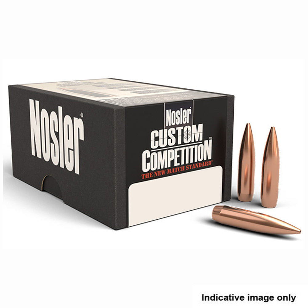 NOSLER .308 CALIBER 168GR HPBT CUSTOM COMP PROJECTILES - 100 Pack