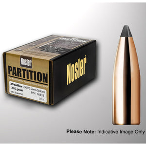 NOSLER .224 60GR PARTITION PROJECTILES - 50 Pack