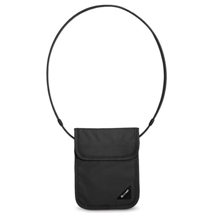 PACSAFE COVERSAFE X75 Anti-Theft RFID Blocking Neck Pouch - Black
