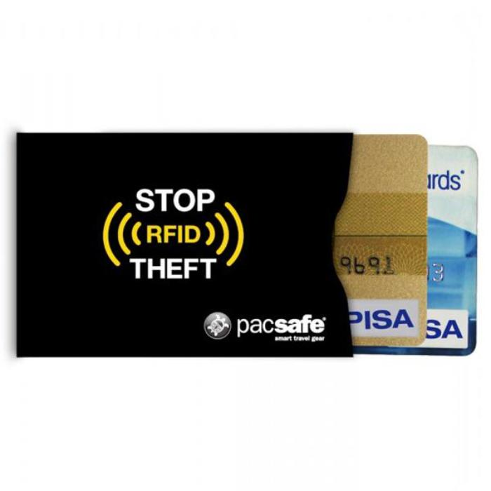 PACSAFE RFIDsleeve 25 RFID Blocking Credit Card Sleeve 2-Pack
