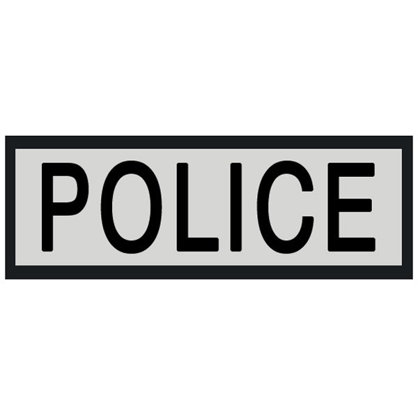 Damascus Velcro Backed Reflective Police Name Plate