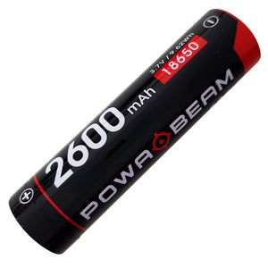Powa Beam 3.7V 2600mAh 18650 Rechargeable Battery