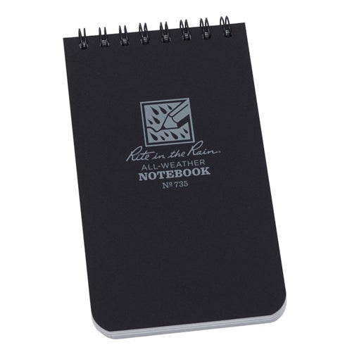 Rite in the Rain 3in x 5in All-Weather Notebook - Black