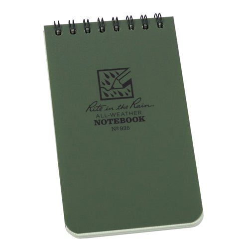 Rite in the Rain 3in x 5in All-Weather Tactical Notebook - Green