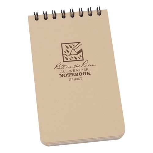 Rite in the Rain 3in x 5in All-Weather Tactical Notebook - Tan