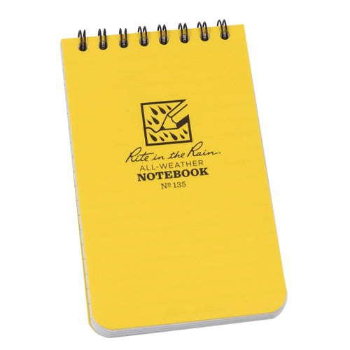 Rite in the Rain 3in x 5in All-Weather Notebook - Yellow