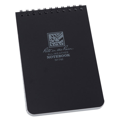 "Rite in the Rain 4"" x 6"" All-Weather Notebook - Black"