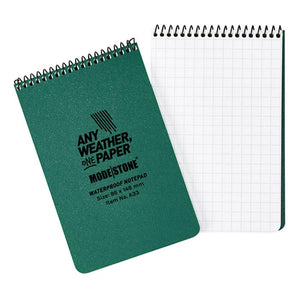 "Modestone 4"" x 6"" All-Weather Tactical Notebook - Green"