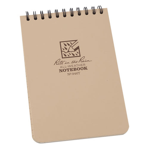 Rite in the Rain 4in x 6in All-Weather Tactical Notebook - Tan