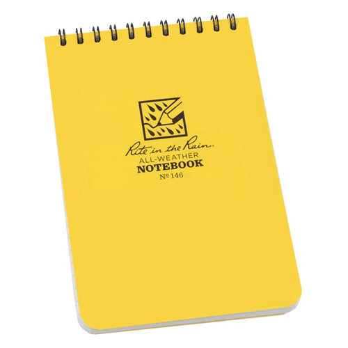 Rite in the Rain 4in x 6in All-Weather Notebook - Yellow