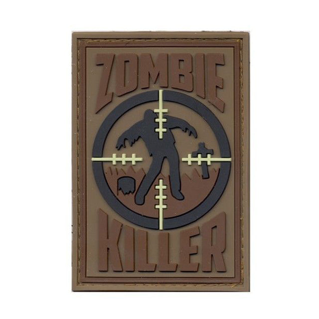 Rothco Zombie Killer Velcro Backed PVC Morale Patch