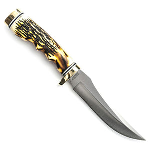 Schrade 153UH Uncle Henry Golden Spike Fixed Blade Knife With Leather Sheath
