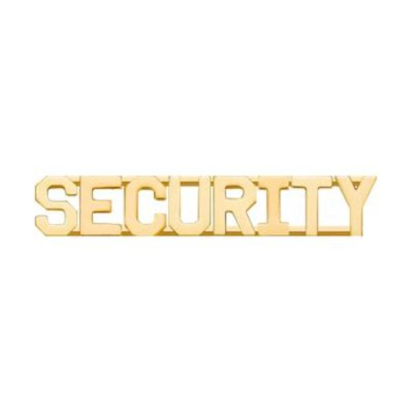 PRO-DUTY Security Collar Insignia - Gold Plated