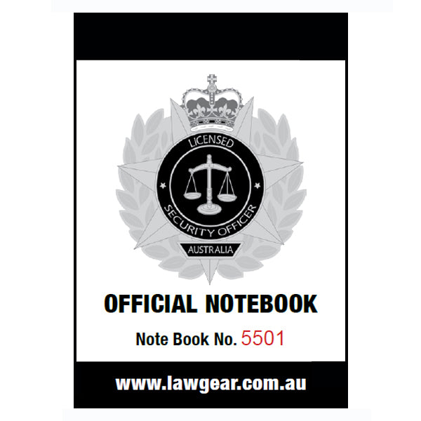 PRO-DUTY Security Officer Crowd Controller Australia Official Notebook