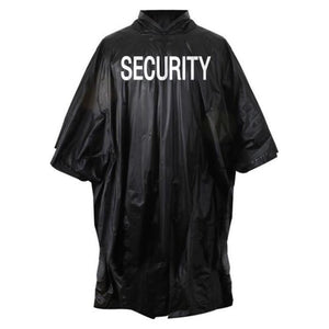 Rothco Security Printed Vinyl Emergency Rain Poncho