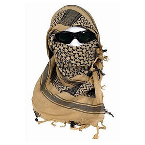 Rothco Globe And Anchor Shemagh Tactical Desert Scarf - Coyote/Black