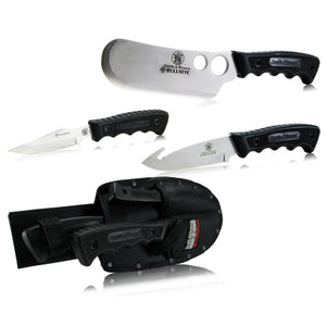 Smith & Wesson SWCAMP Bullseye Cleaver, Caping Knife and Guthook Knife Combo Kit