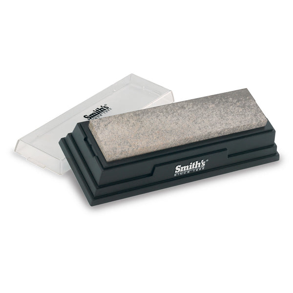 "Smith's 6"" Natural Arkansas Sharpening Bench Stone - Medium Grit"