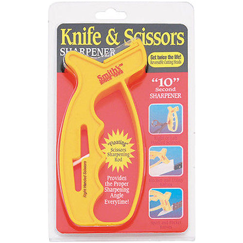 Smith's 10 Second Knife & Scissors Sharpener - Yellow