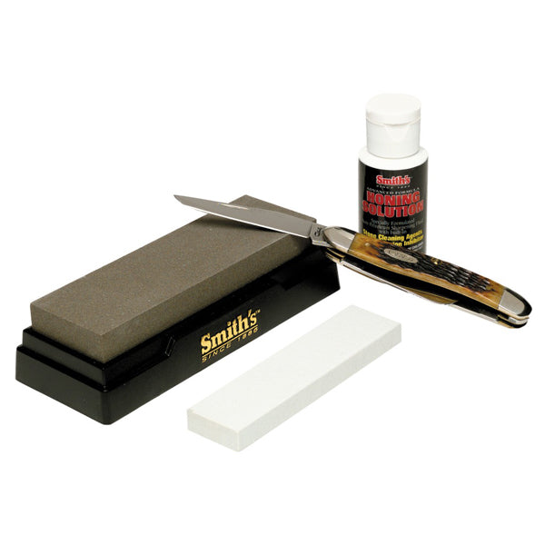 Smith's Two Stone Sharpening Kit - Medium & Fine Grit