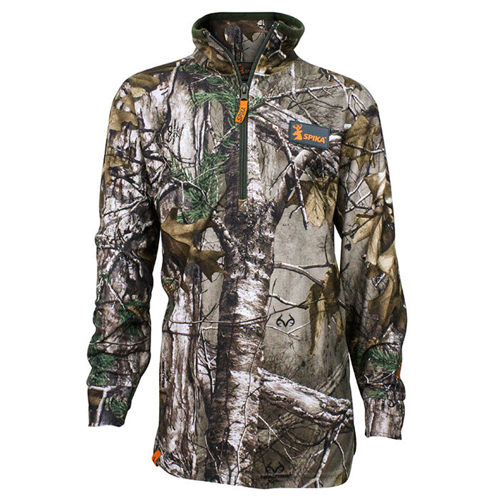 Spika Kids Tracker Long Sleeve Top - Realtree Xtra