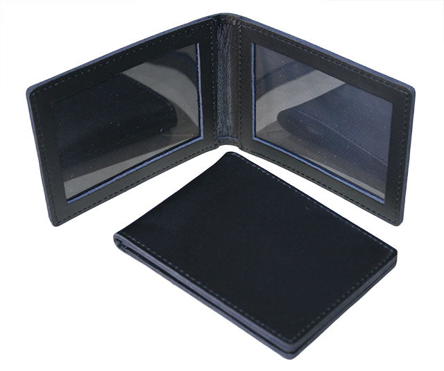 SpyTek Leather Identification Card Wallet - Dual Window