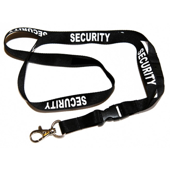 Security Printed Neck Lanyard With Dual Rigid Identification Holder