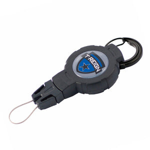 T-REIGN Retractable Gear Tether Carabiner - MEDIUM