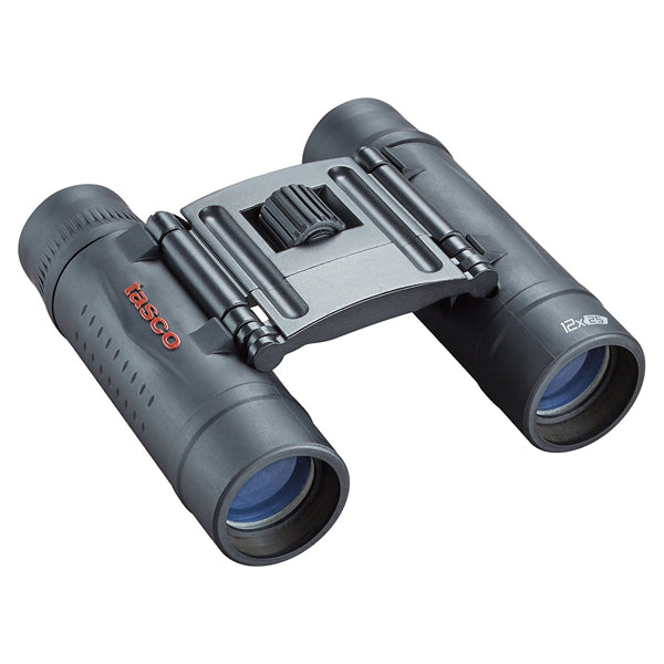 Tasco 12x25 Compact Rubber Coated Binoculars - Black