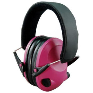 Night Prowler Low Profile Electronic Ear Muffs - Pink