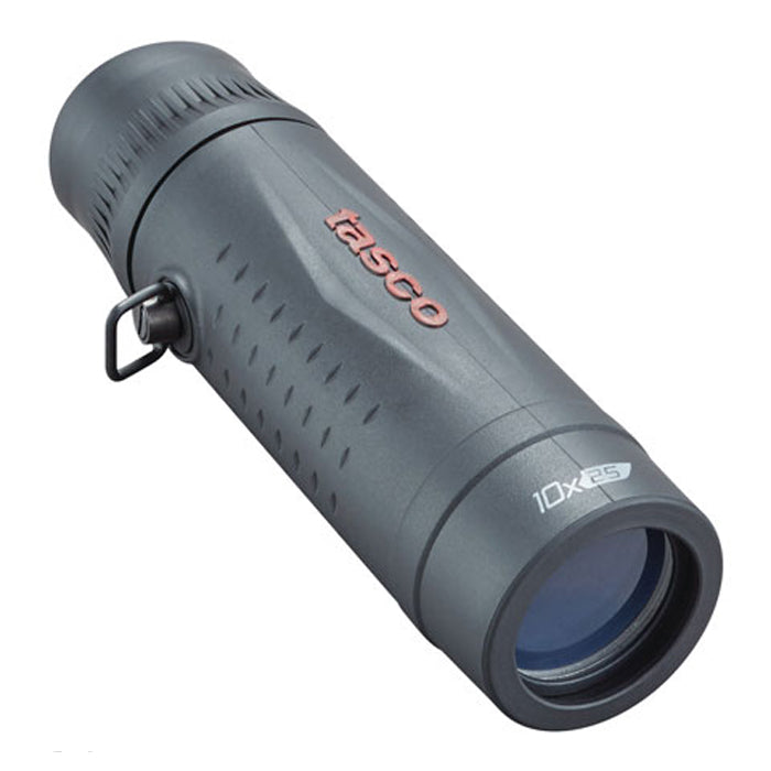 Tasco 10x25 Compact Rubber Coated Monocular - Black