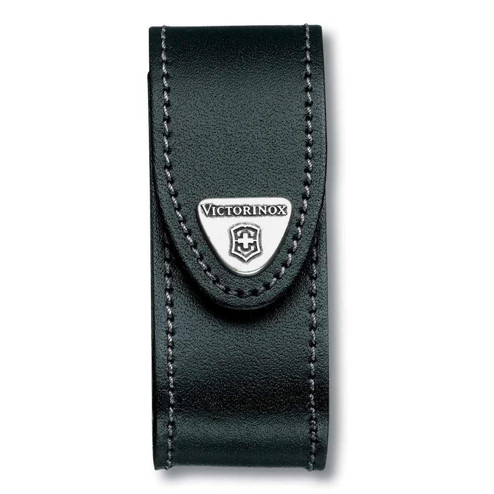 Victorinox Black Leather Knife Pouch - 2 to 4 Layer 4.0520.3