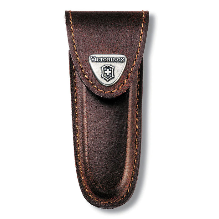 Victorinox Brown Leather Knife Pouch - 2 to 4 Layer 4.0533