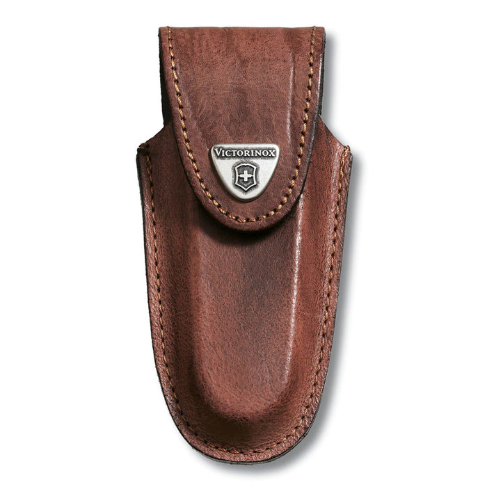 Victorinox Brown Leather Knife Pouch - 4 to 6 Layer 4.0538
