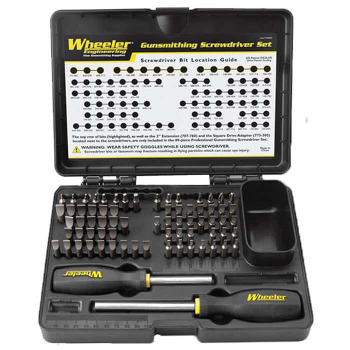 Wheeler 72 Piece Basic Professional Gunsmithing Screwdriver Set