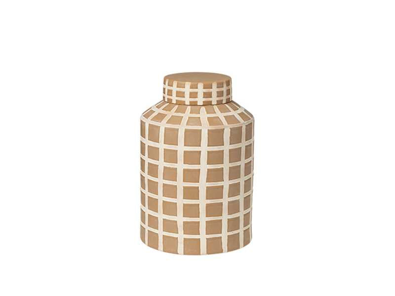Broste Copenhagen | Jarry Stoneware Deco Jar | Medium