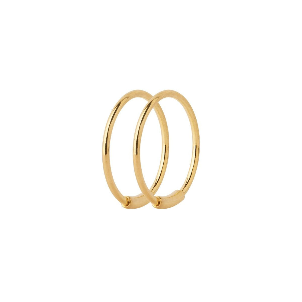 Maria Black | Basic 12 Hoop Earring Pair | 18K Gold