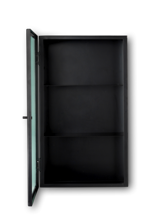 Ferm Living | Haze Wall Cabinet | Wired Glass | Black