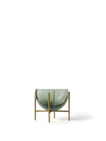 Menu | Small Échasse Bowl | Smoked Green + Brass