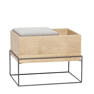 Hübsch | Bench With Cushion + Storage