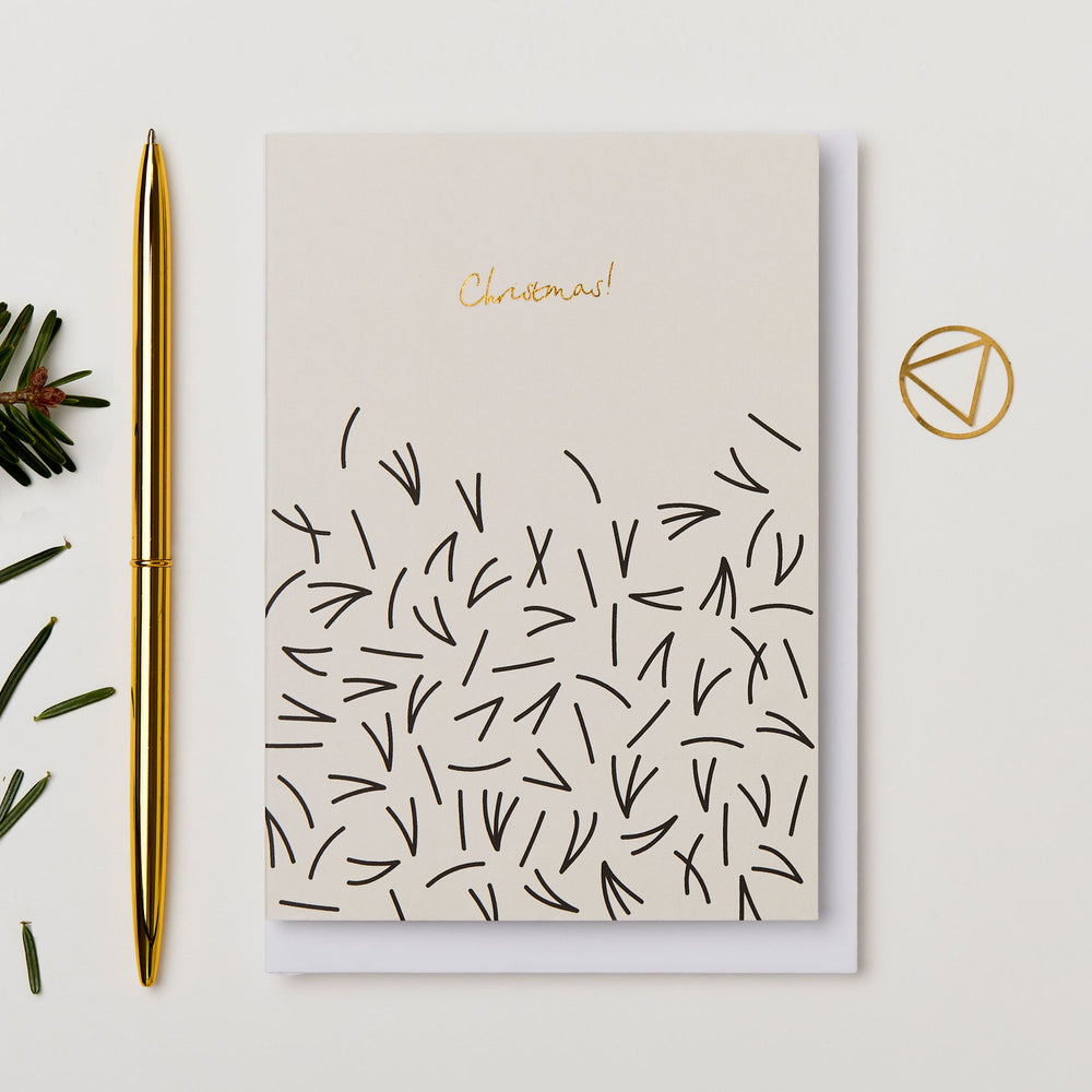 Kinshipped | Christmas Pine Needle's | Greetings Card