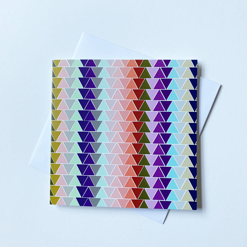 Oravska Triangle Geo Print | Digitally Printed Greetings Card