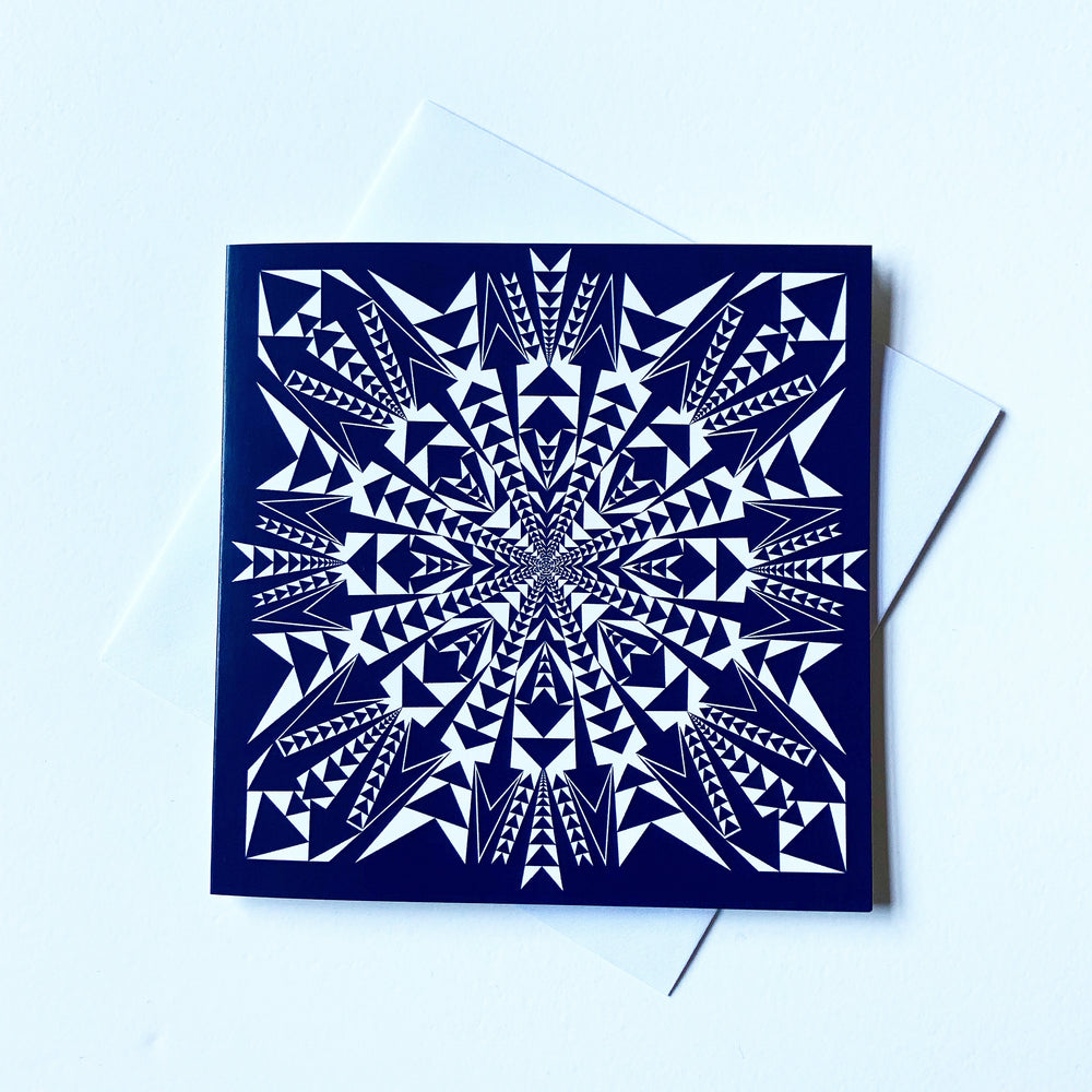 Oravska Kaleidoscope Print | Digitally Printed Greetings Card